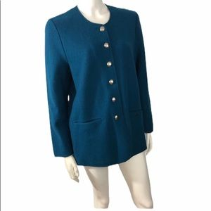 Geiger Wool Car Coat silver buttons size 38